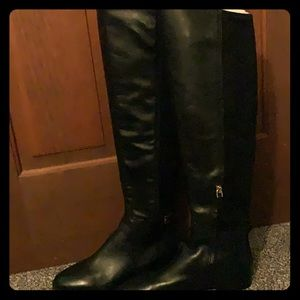 Black high Tory Burch boots
